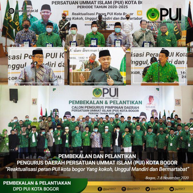 DPD PUI Kota Bogor Provinsi Jawa Barat Periode 2020-2025 resmi dilantik. (foto: humas PUI)