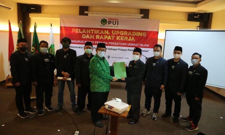 PP Pemuda PUI Masa Khidmat 2021-2024 resmi dilantik oleh Majlis Syuro PUI, KH. DR. Ahmad Heryawan, M.Si., Minggu (7/3/2021). (Foto: Humas PUI)
